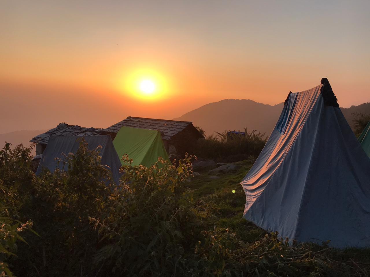 Day 01:-  Mcleod ganj – Triund (2875 M)  - Leta Village Camps  13 kms walk