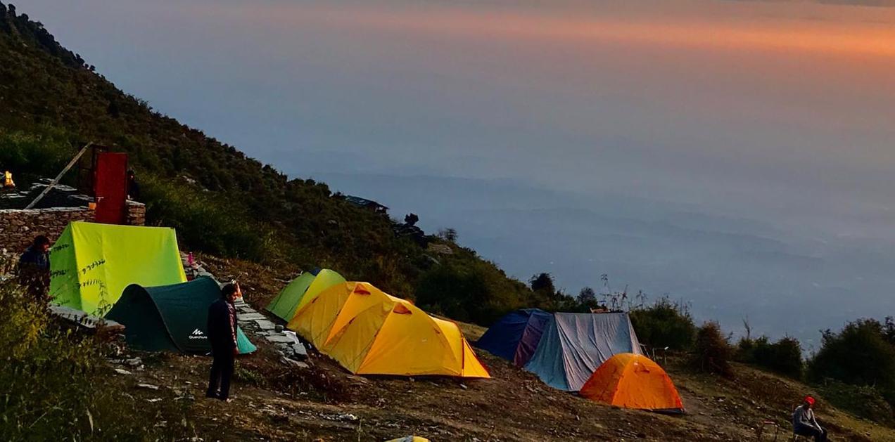 Day 01 Bhagsu Nag - Triund - Leta camps